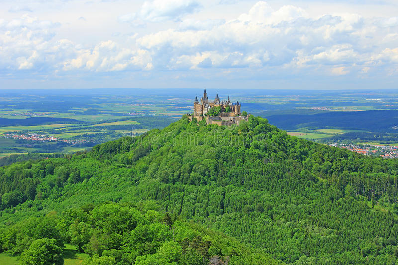 Замок Hohenzollern стоковое изображение rf