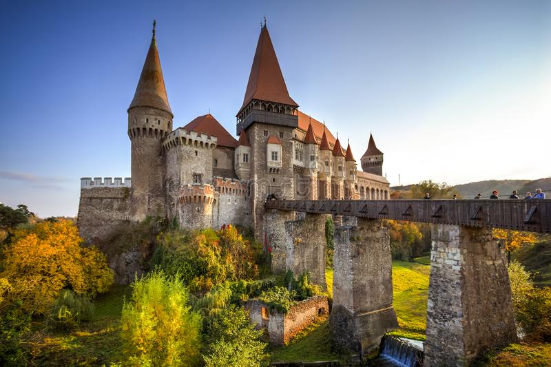 Замок Hunyad, Румыния стоковая фотография rf