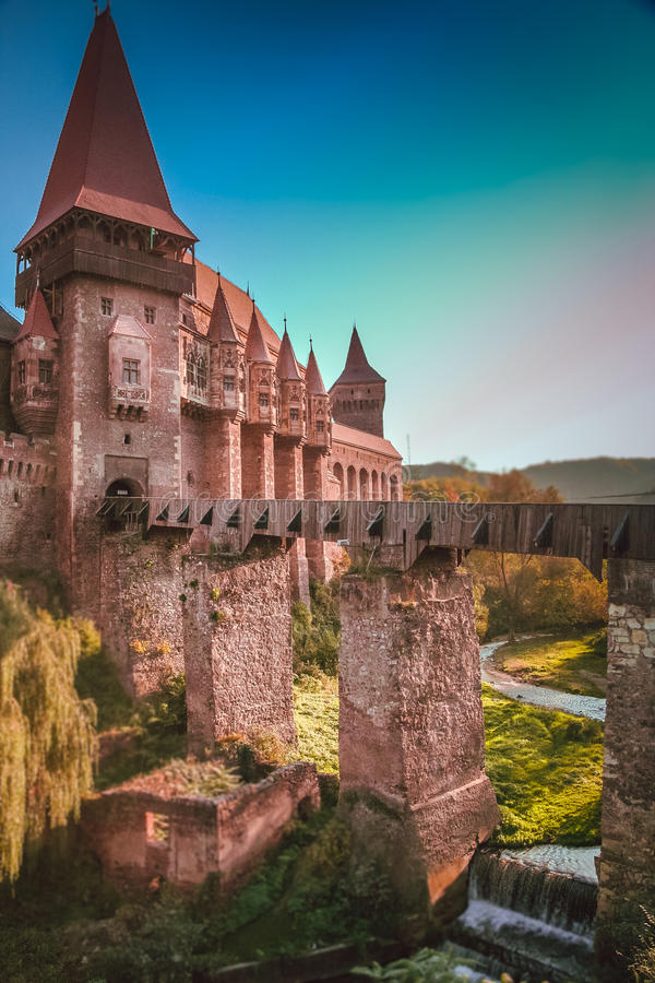Замок Hunyad стоковое фото rf