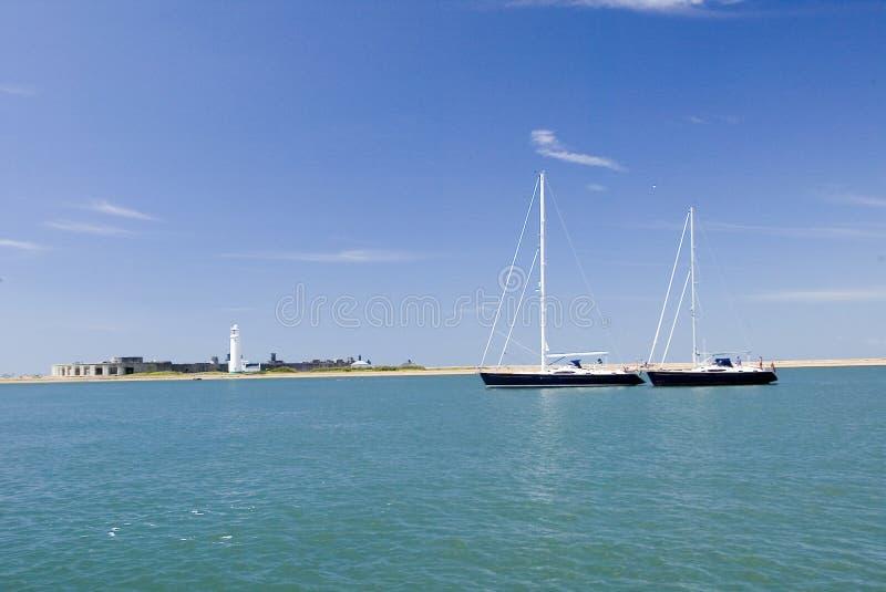 Замок Hurst яхты плавания MV унылый стоковая фотография