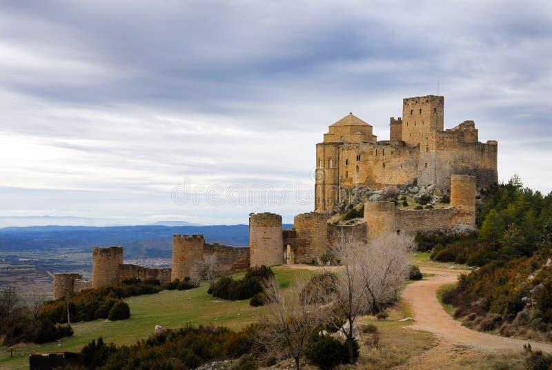 замок i loarre стоковое фото rf