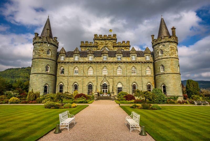 Замок Inveraray в западной Шотландии, Великобритании стоковое изображение