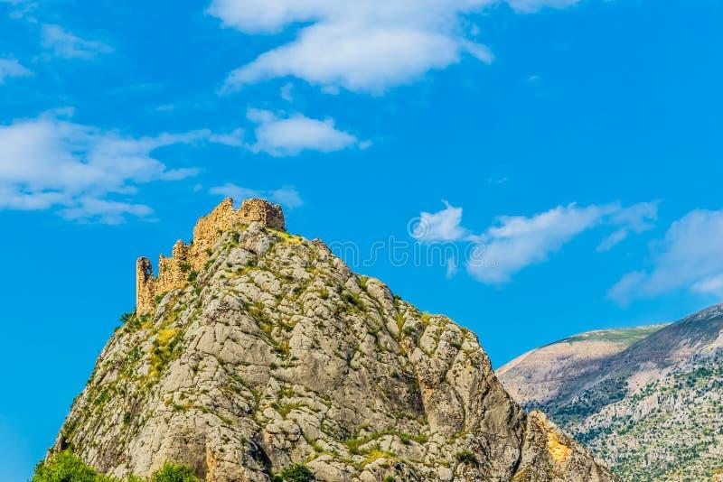 Замок Kahta, Adiyaman, Турция стоковые фотографии rf