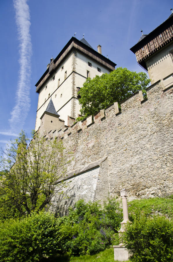 Замок Karlstejn стоковое фото rf