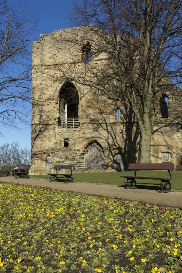 Замок Knearsborough - северный Йоркшир - Великобритания стоковое фото