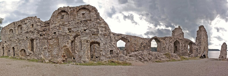 Замок Koknese в Латвии стоковые фото