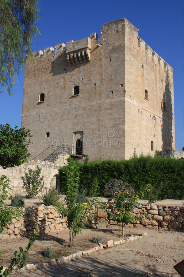 Замок Kolossi на острове Кипра стоковые изображения