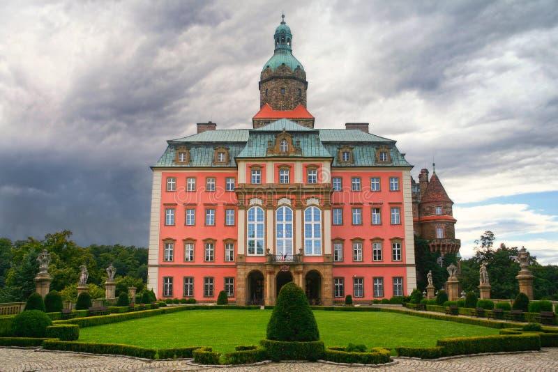 Замок Ksiaz, Польша стоковые фотографии rf