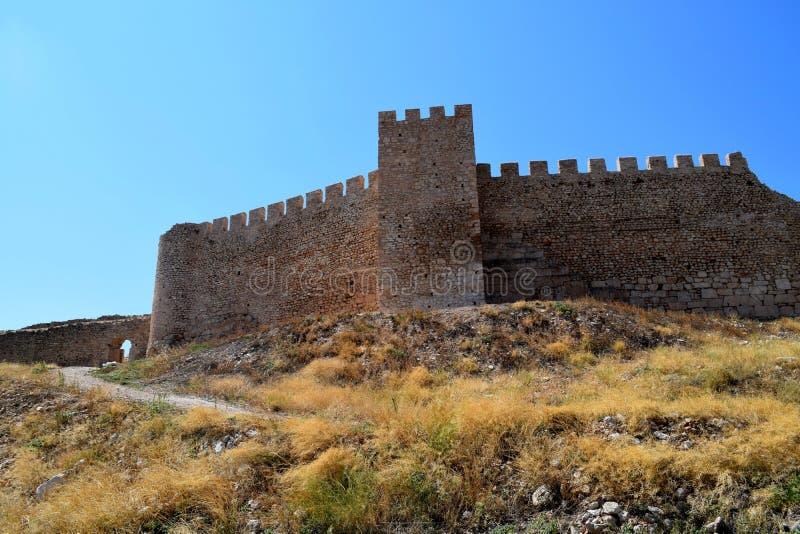 Замок Larissa, Греция стоковая фотография rf