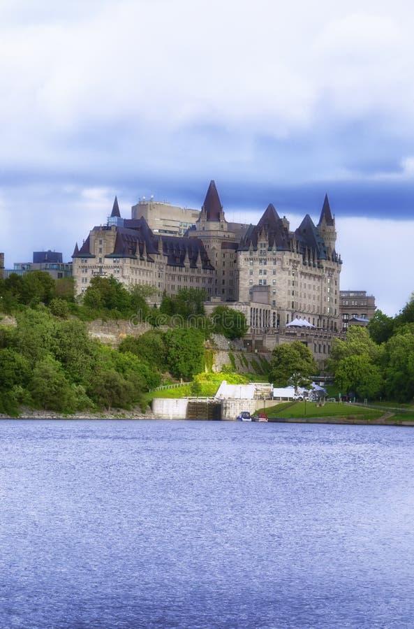 Замок Laurier Fairmont стоковое изображение rf