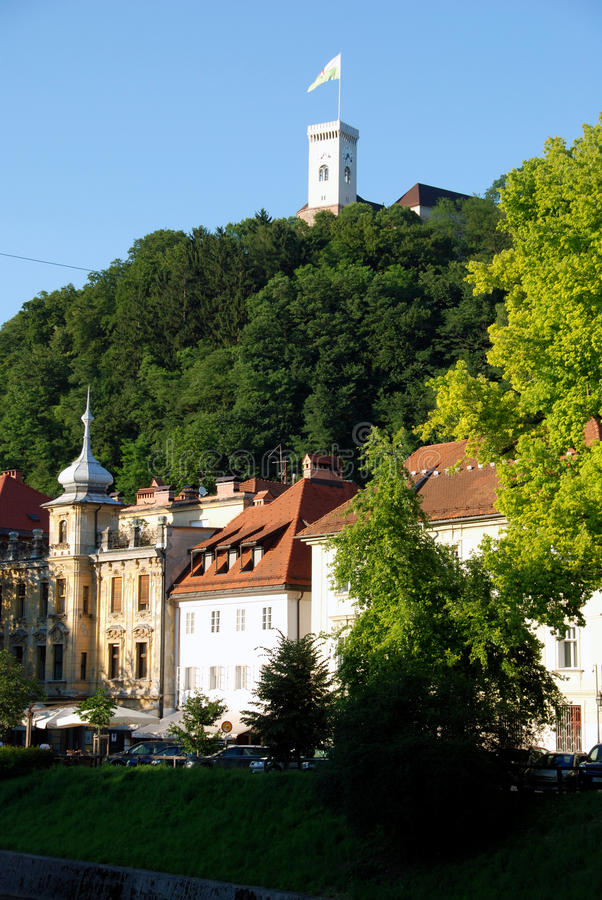 замок ljubljana стоковые изображения rf