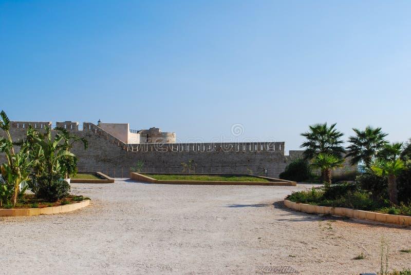 Замок Maniace в Сиракузе Сицилия стоковые фотографии rf