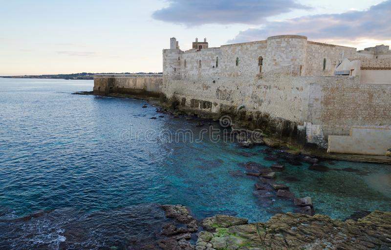 Замок Maniace, Ortigia стоковое фото rf