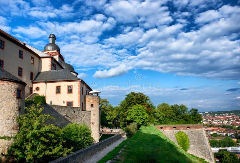 Замок Marienberg в Wurzburg, Германии стоковые изображения