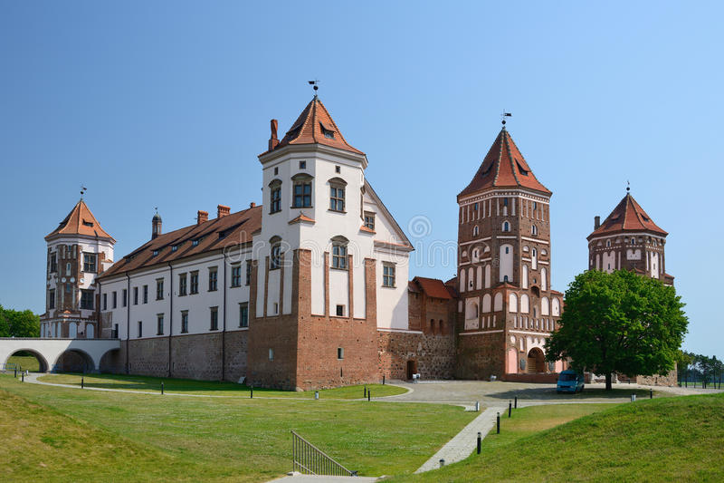Замок Mir, Беларусь стоковая фотография rf