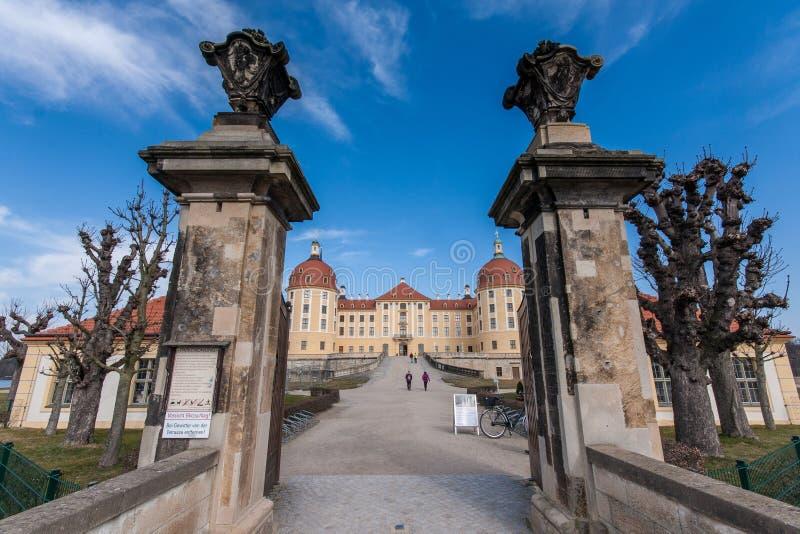 Замок Moritzburg около Дрездена стоковые изображения