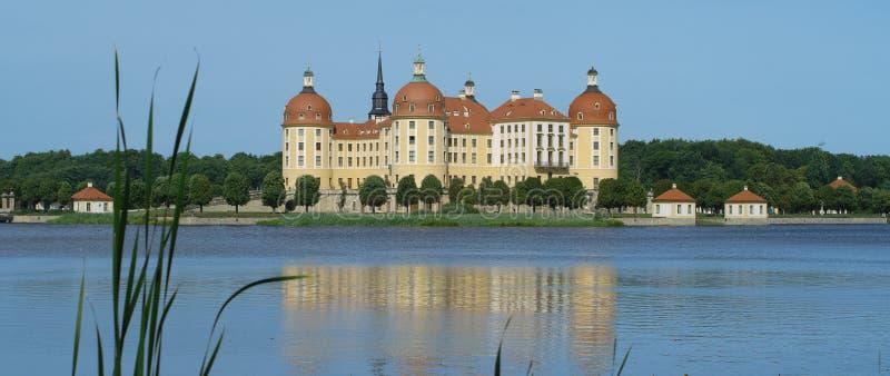 Замок Moritzburg около Дрездена стоковые изображения rf