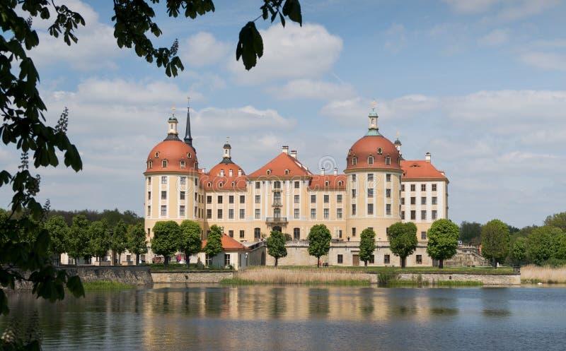 Замок Moritzburg около Дрездена в Саксонии стоковая фотография rf