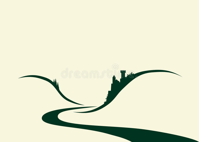 замок mosel иллюстрация штока