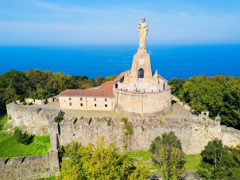 Замок Mota в San Sebastian стоковое фото rf