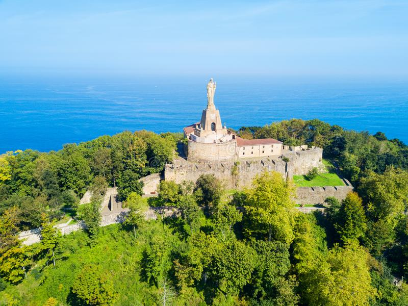 Замок Mota в San Sebastian стоковые изображения rf