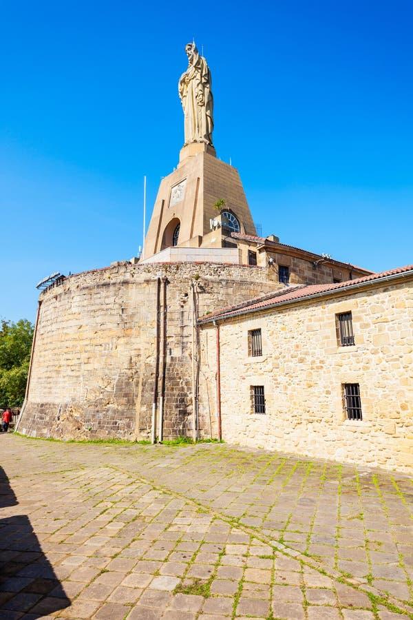 Замок Mota в San Sebastian стоковые фотографии rf