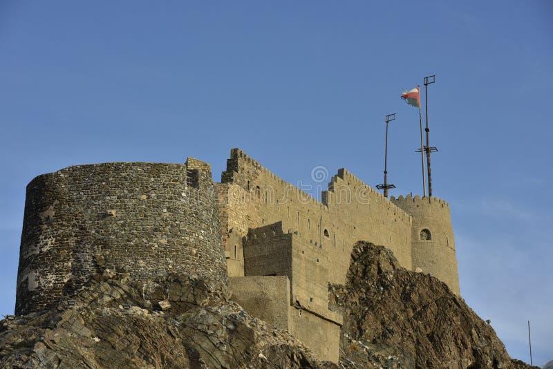 Замок Muscat, Омана стоковое фото rf