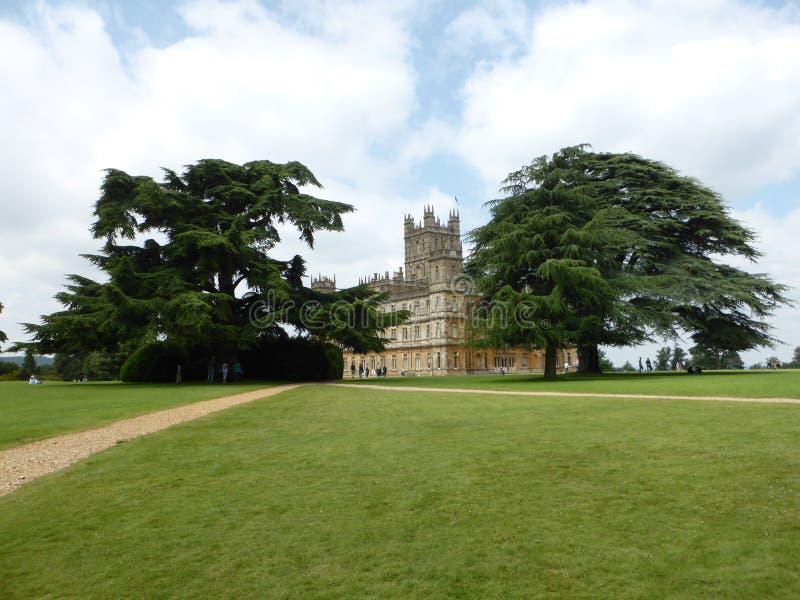 Замок n Highclere солнце стоковая фотография