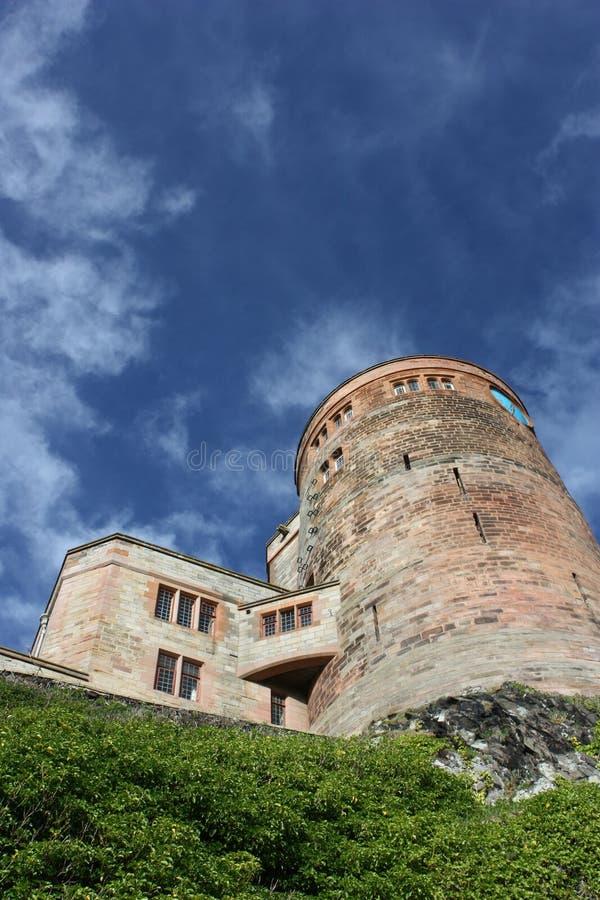 замок northumberland bamburgh стоковое изображение rf