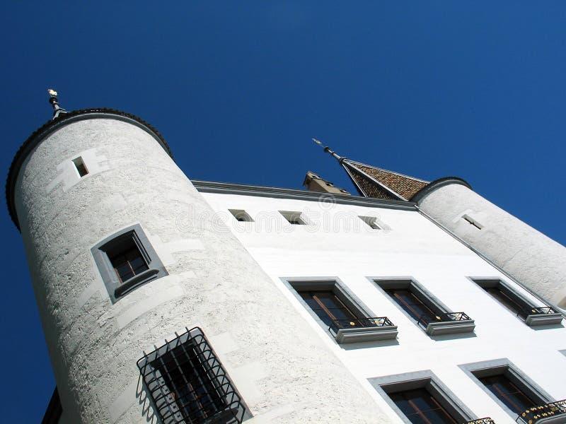 замок nyon Швейцария стоковые фото
