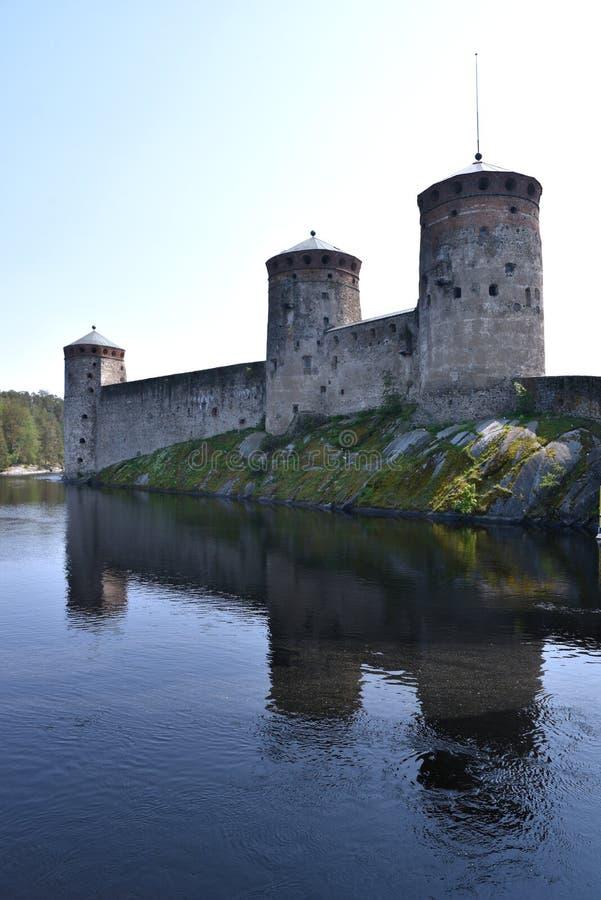 Замок Olavinlinna в Финляндии стоковые фото