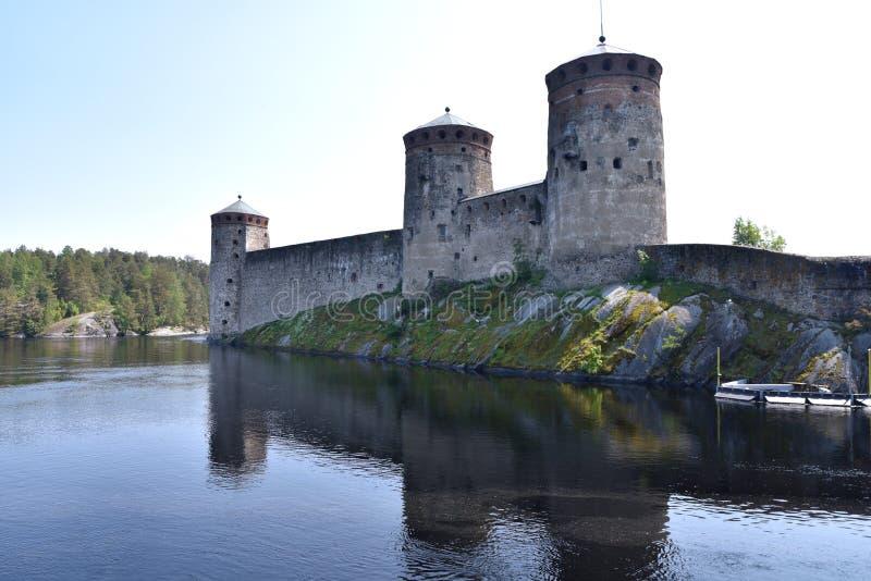 Замок Olavinlinna в Финляндии стоковое изображение