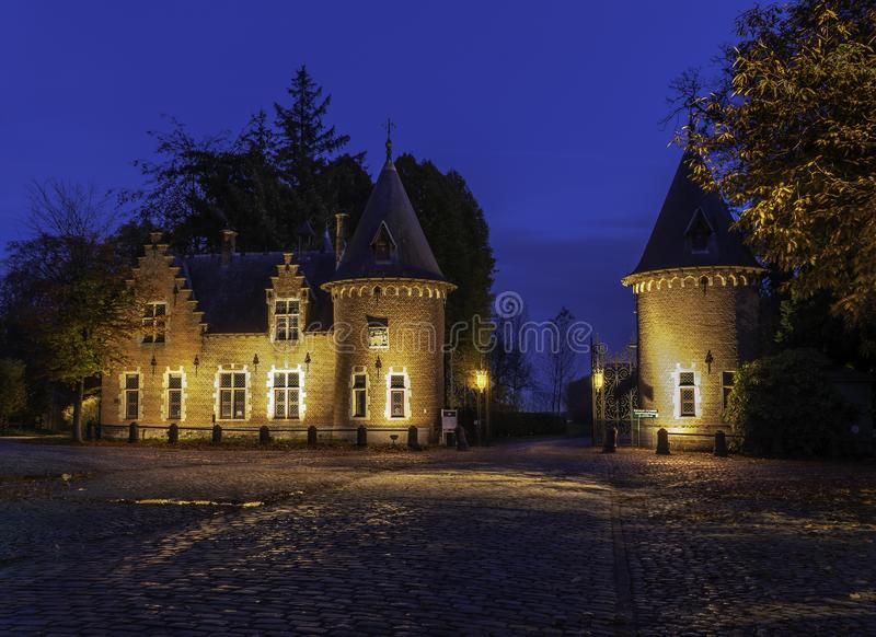 Замок Ooidonk стоковое фото rf