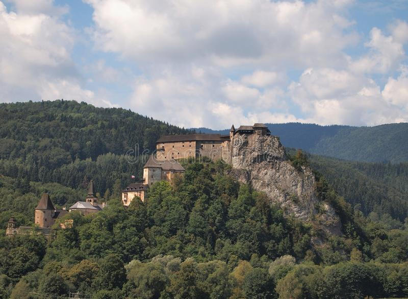 Замок Orava в Словакии стоковое изображение rf