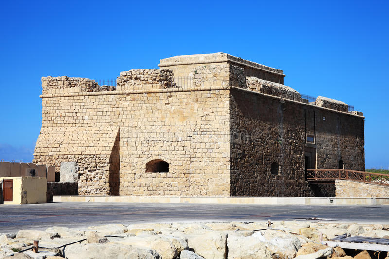 Замок Paphos, Кипр стоковая фотография