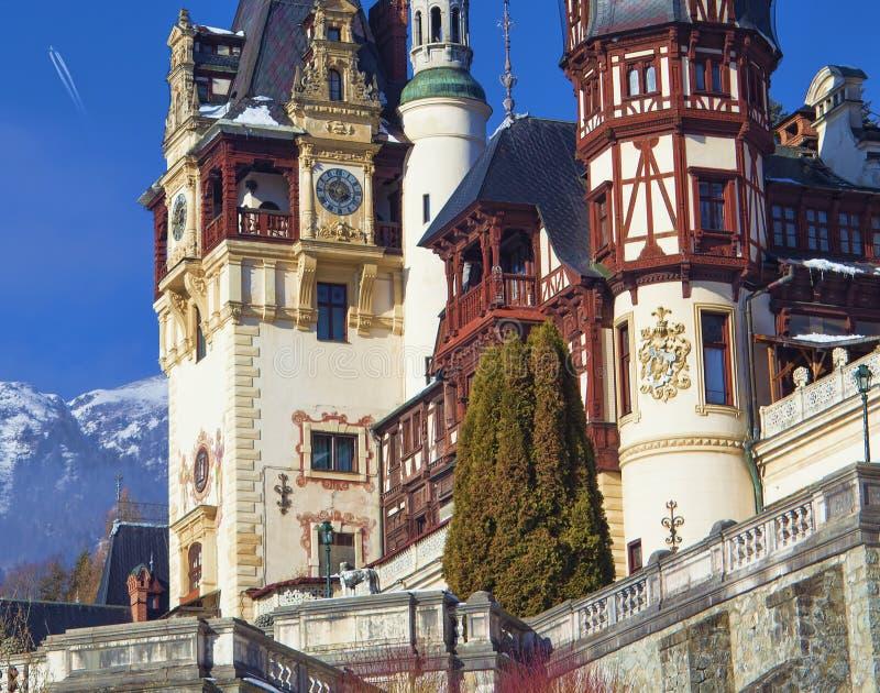замок peles в transylvania, Румынии стоковая фотография