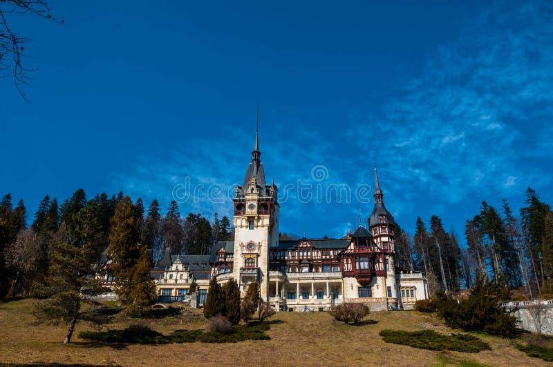 Замок Peles стоковые фотографии rf