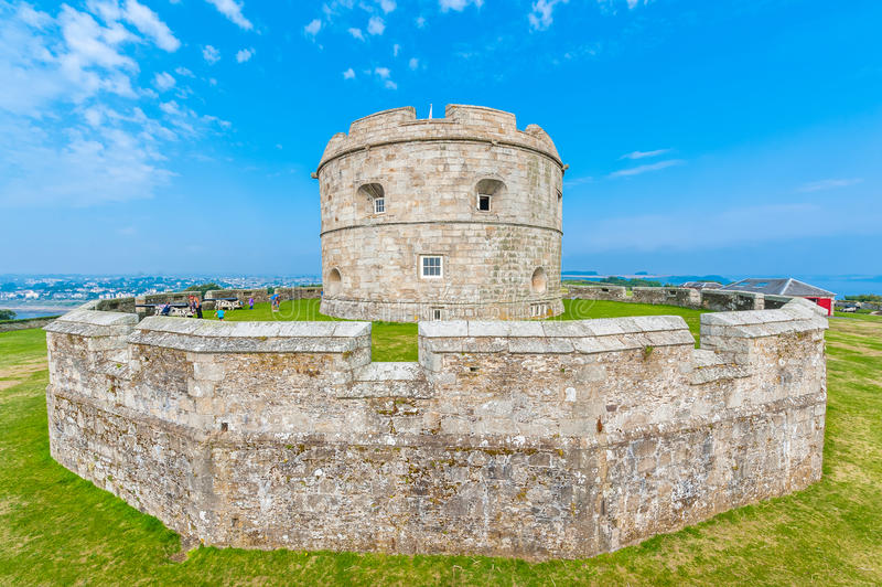 Замок Pendennis держит стоковые фотографии rf