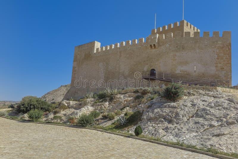 Замок Petrer стоковое фото rf