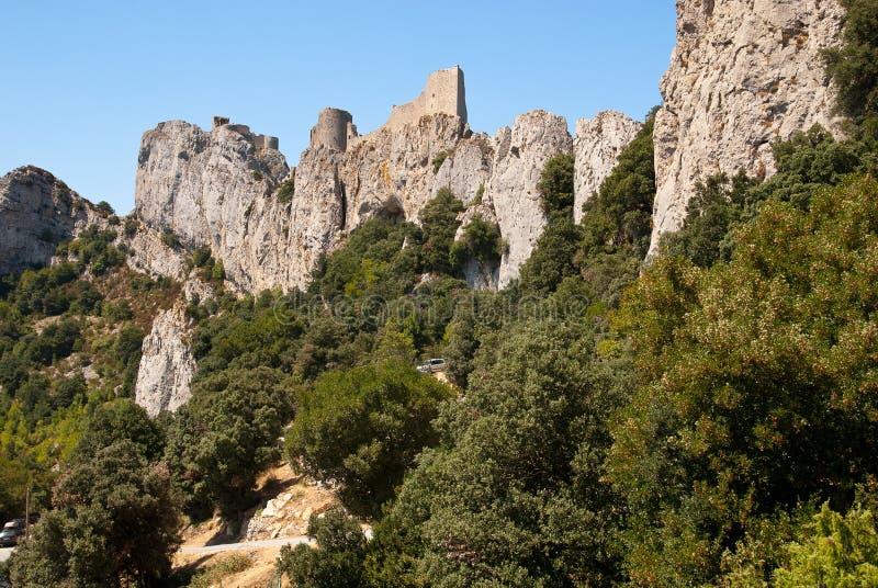 Замок Peyrepertuse стоковые фото