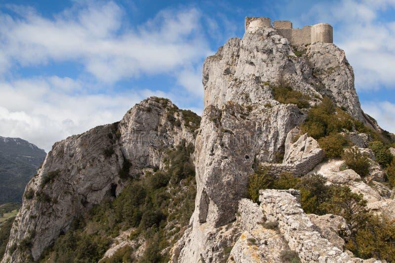 Замок Peyrepertuse стоковое фото rf