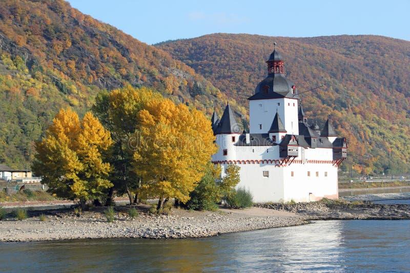 Замок Pfalzgrafenstein стоковые изображения