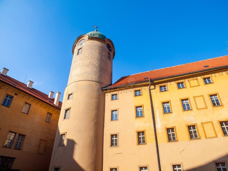 Замок Podebrady на реке Labe, чехии стоковые изображения