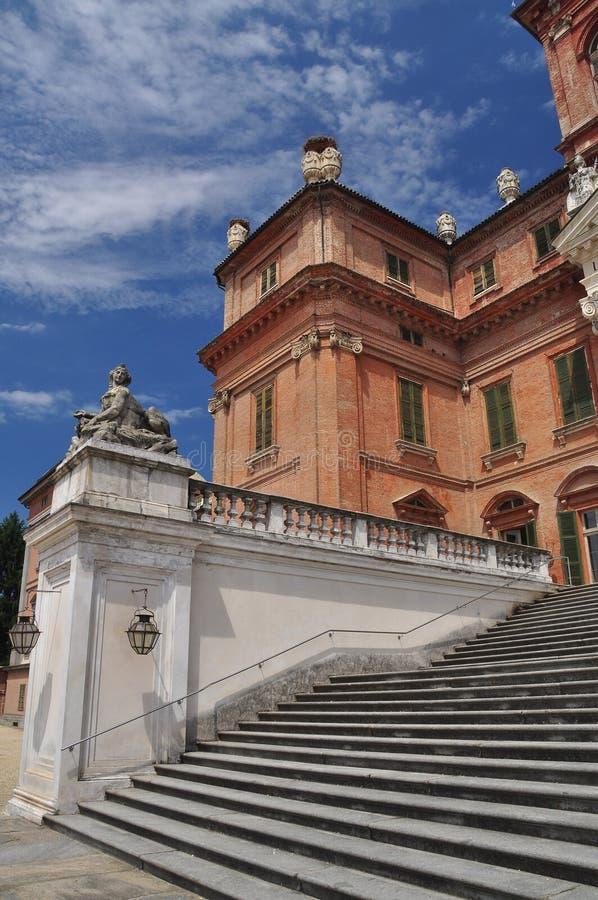 Замок Racconigi, резиденция савойя королевская, Piemonte, Италия стоковая фотография