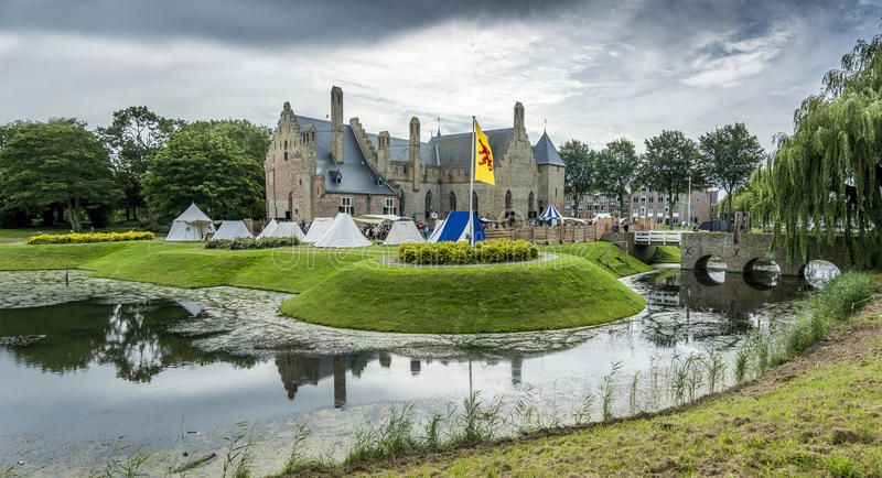 Замок Radboud в Medemblik, Нидерланды стоковые фото
