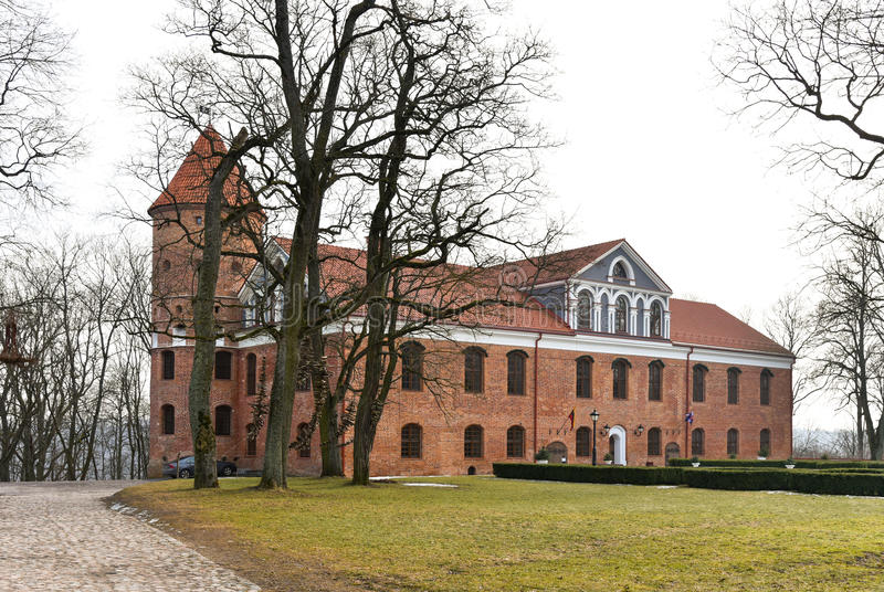 Замок Raudondvaris стоковое фото