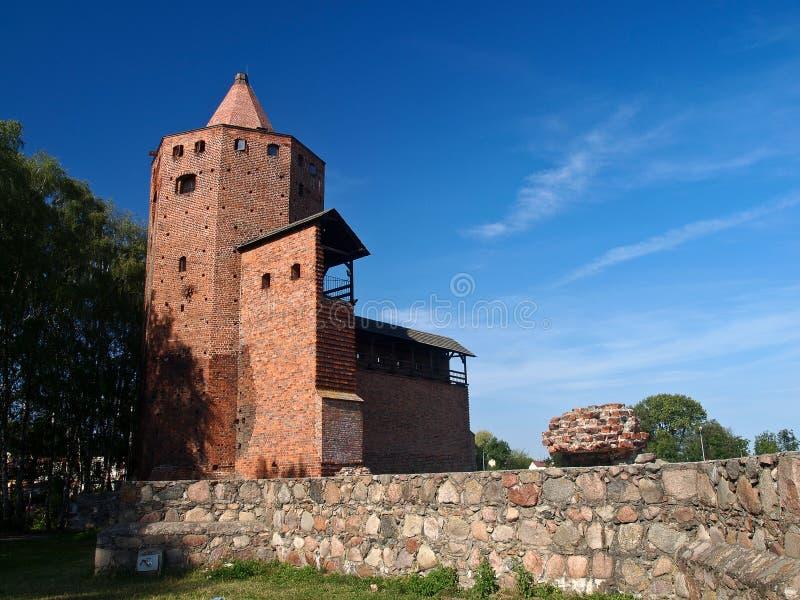 Замок Rawa Mazowiecka, Польша стоковая фотография rf