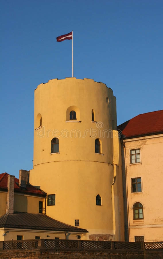 замок riga стоковые фотографии rf