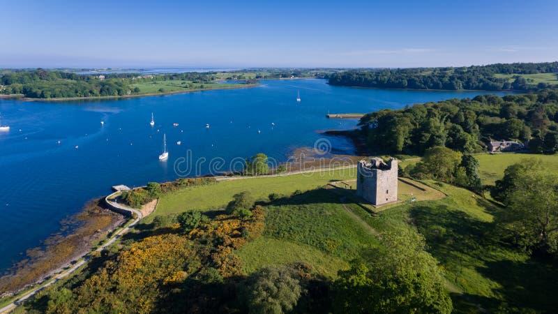 Замок ` s Audley Strangford спуск графства, Северная Ирландия стоковые изображения