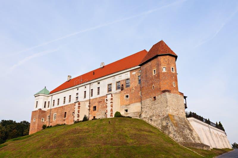 Замок Sandomierz королевский стоковые изображения rf